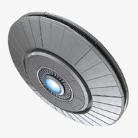 Ufo Classic Flying Saucer Rigged 3D Model