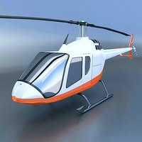 helicopter x 3D model