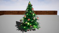 furniture cranberry peony christmas tree 3D model
