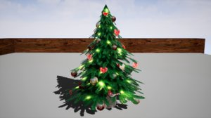 furniture cranberry peony christmas tree 3D model