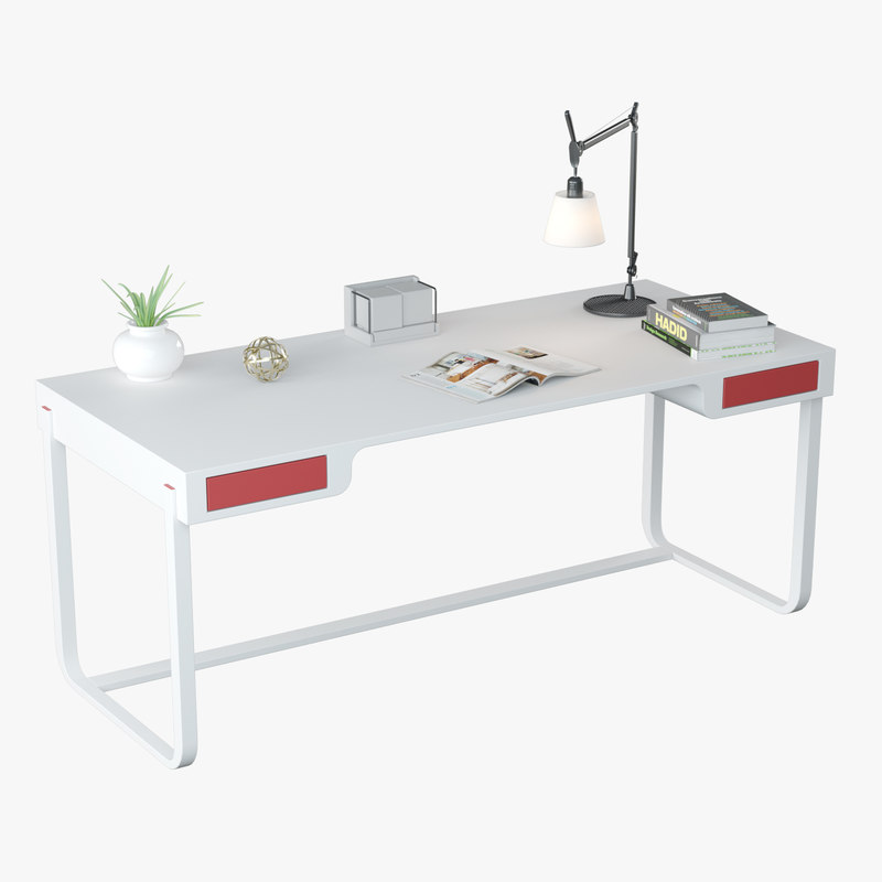 3D model minimalist desk design