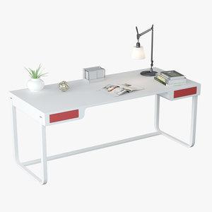 3D model minimalist desk design
