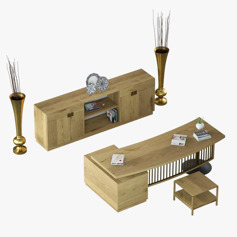 3D donge office furniture set
