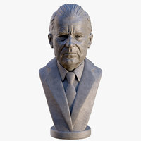 3D richard nixon bust model
