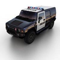 3d h2 police suv model
