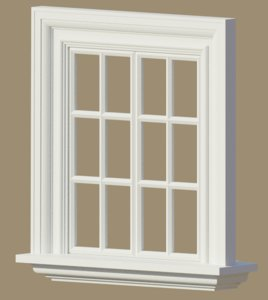 3d model window exterior interior