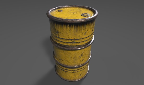 ready oil barrel 3D model