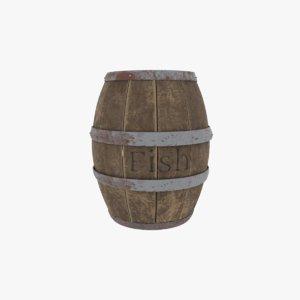 container barrel cask 3D