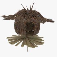 3D model hut building