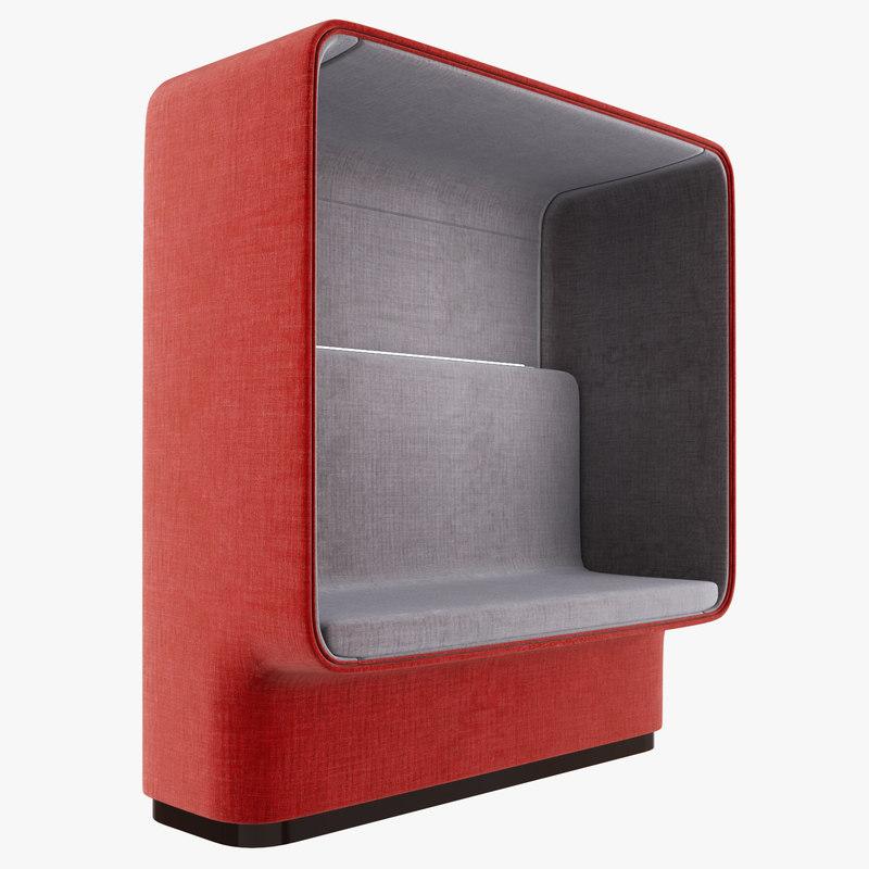 boccaporto armchair design metrica 3D model
