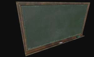 ready old chalkboard 3D model