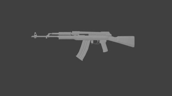 ak47 arma guns model