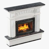 fireplace design 3D model