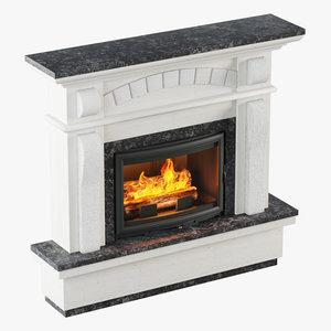 fireplace design 3D model
