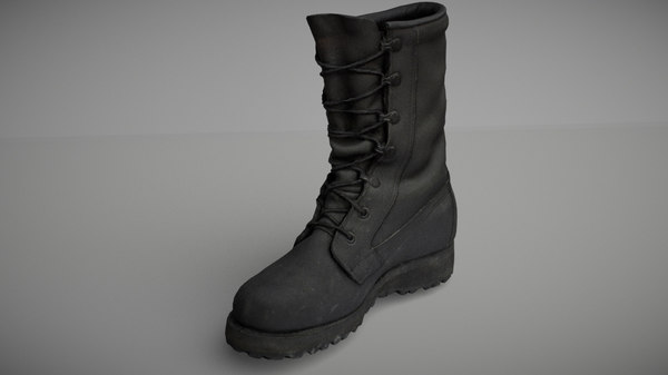 military boot 3D