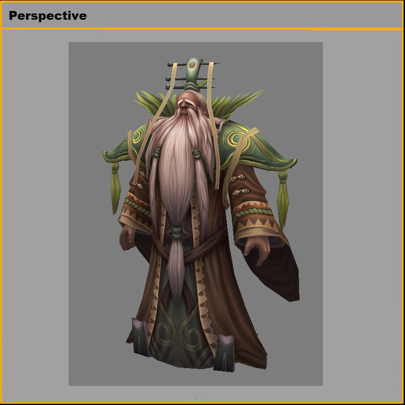 Low poly 3D characters-Herbs immortal
