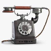 retro telephone 4 3D model