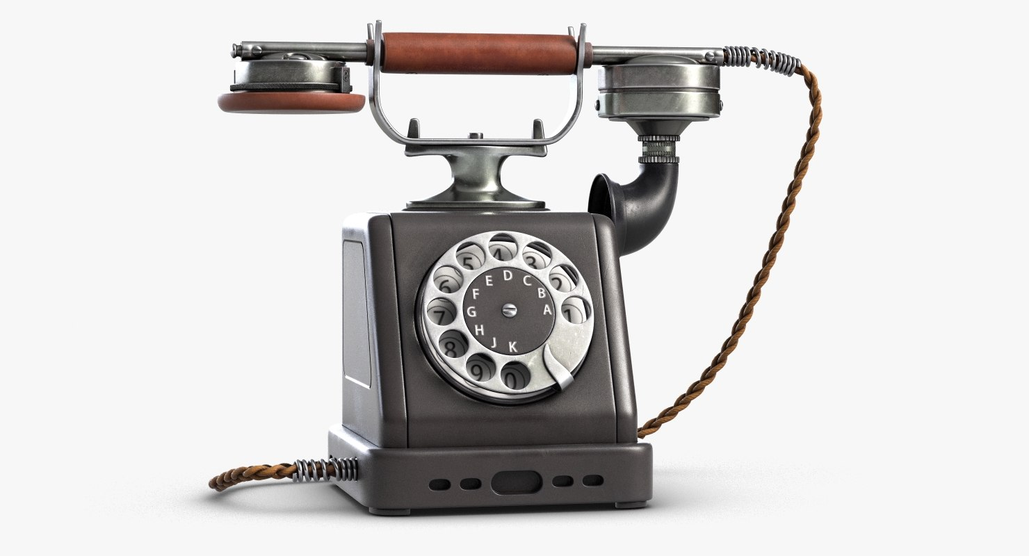 retro telephone 4 3D model