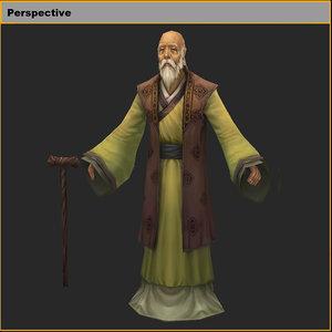 characters- grandpa 3D model