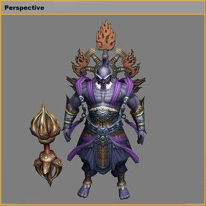 characters-indigo god 3D model