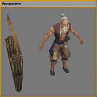 3D characters-woodcutter li ding