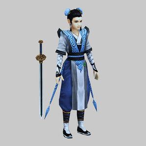 characters-swords apprentice 3D model