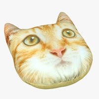 3D cat pillow