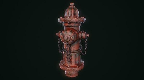 3D vintage hydrant