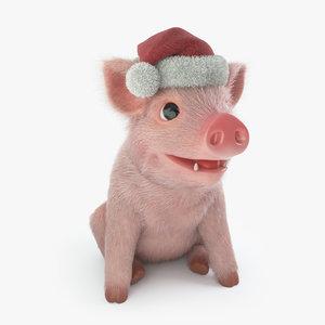 3D model pig piggy