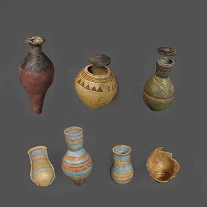 clay pots model
