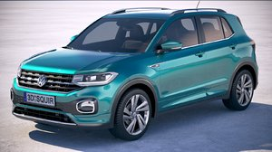 volkswagen t-cross 2019 3D model