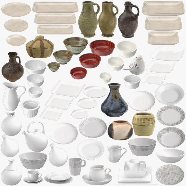 porcelain ceramic pottery 3D