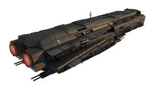 3D sci-fi spaceship combat