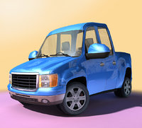 3D generic - cartoon truck