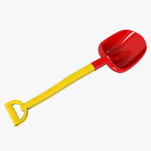 toy spade 3D model