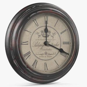 3D model vintage wall clock v1