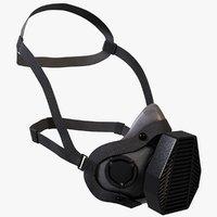 gas mask half respirator 3D