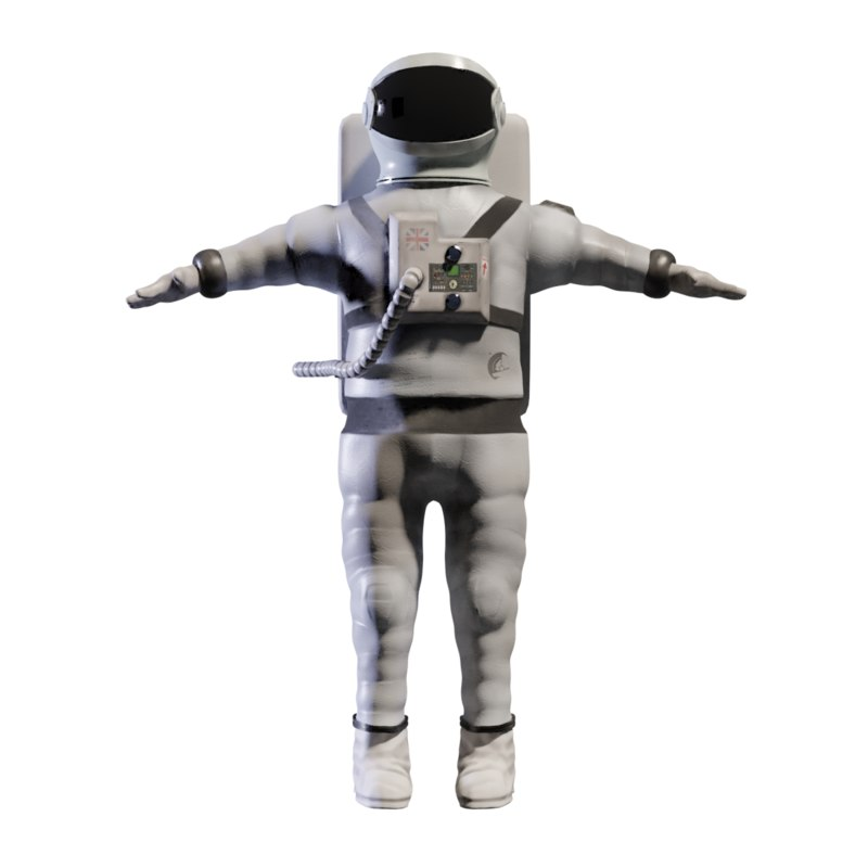 retopologised rigged astronaut 3D