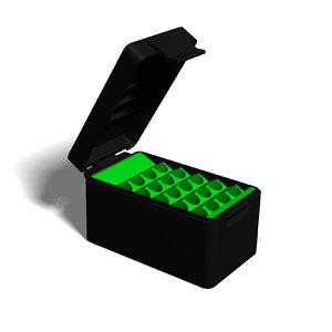 3D ammo box 22-250 model