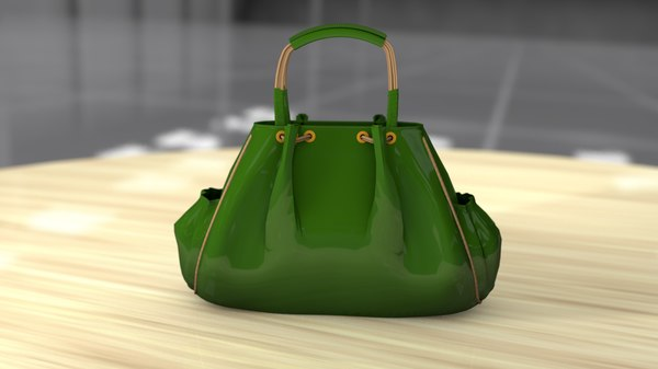 3D female handbag