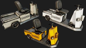 luggage vehicle pbr 3D