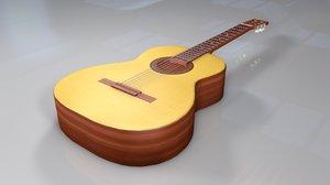 wooden guitar 3D model