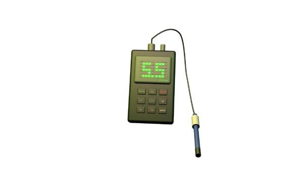 3D ph meter model