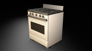 3D stove oven appliance model