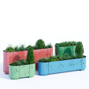 planter metal model