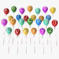 alphabet balloons model