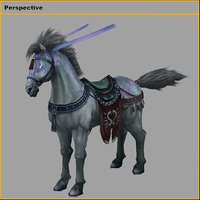 3D characters- tiangong military horse