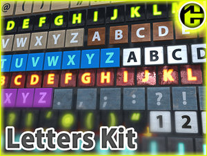 3D letters kit blocks alphabet model