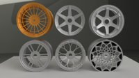 wheels enkei radi8 3D model