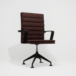 realistic leather chair 3D